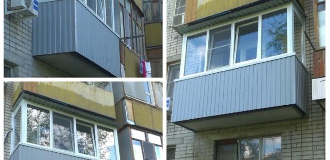 Отделка балконов в сером цвете фото.