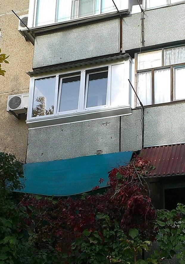 Остекление балкона г.волжский - тёплая лоджия.