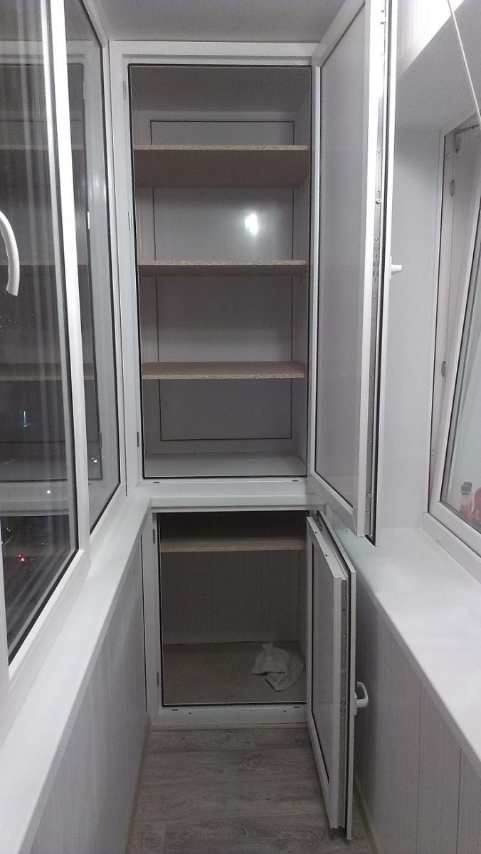Шкаф на балкон - тёплая лоджия.